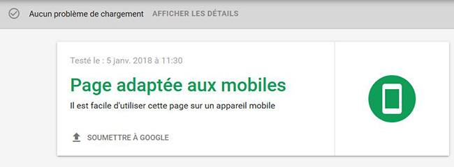 Outil de test mobile friendly Google